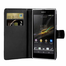 Wallet Flip Side Open Pu Leather Card Holder Case Cover For Sony Xperia Z3
