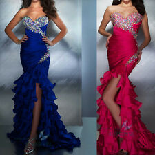 Mermaid Hi-lo Wedding Dres Cocktail Prom Party Ball Gowns Formal Evening Dresses