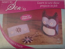 CHILDREN AND BEGINNERS LEARN TO KNIT - SEW - CROCHET KITS
