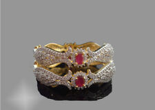 Ruby Emerald Antique Bangle