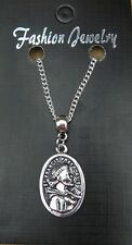 "18"" 24"" Inch Chain Necklace & St Francis of Assisi Pendant Charm Religious Saint"