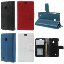 Peapod Genuine Cowhide Leather Magnet Wallet Stand Flip Case for Nokia Lumia 530