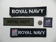 Royal Navy TRF + Unit ID title patches. x4  New.