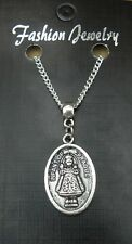 "18"" or 24 Inch Chain Necklace & Infant Jesus of Prague Pendant Religious Charm"