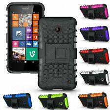 Heartly Flip Stand Spider Hard Armor Back Case Cover For Nokia Lumia 630 635 638