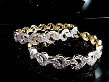 Daphne Sparkling AD studded Bangles, curvy design, best Gift for Wife