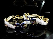 BAN445, Daphne AD studded white Gold Plated Peacock Bangle for Wedding Events