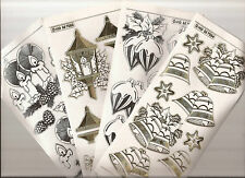 Embossed MD Peel Offs - Christmas Ornaments Decoupage 7081/82/83/84