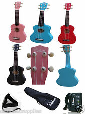 "Ukulele Coban 21"" package 10mm bag, picks, strap, mini Digi tuner"