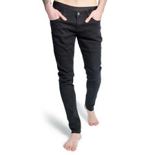 Criminal Damage Skinny Fit Jeans Schwarz Herren Hose Skeleton Hands Röhrenjeans