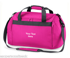Personalised Mini Holdall Travel Gym Kit Bag Your Name Slogan Girls Sports Team