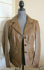 ASHLEY BROOKE  - DAMEN - JACKE - LEDERJACKE - LAMMNAPPA -COGNAC- Gr.38,40 - NEU