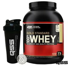 OPTIMUM NUTRITION ON GOLD STANDARD 100% WHEY PROTEIN ALL SIZES & FLAV + SHAKER