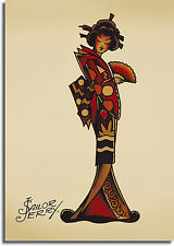 A1 A2 A4 sizes Sailor Jerry Navy Pin Up Girl Tattoo Vintage Large Poster A3
