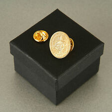 24ct Gold Plated Lucky Sixpence Tie Pin 1921 - 1946 in gift box