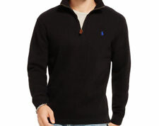 Polo Ralph Lauren French Rib Sweater Mens Half Zip Mock Neck Pullover MSRP $98.5