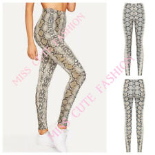 NEW WOMENS LADIES CASUAL STRETCH RED LEOPARD SNAKE PRINT LEGGINGS PLUS SIZE 8-22