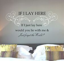 Snow Patrol Chasing Cars lyrics, song quote, Wall art sticker, Vinyl Decal,multi
