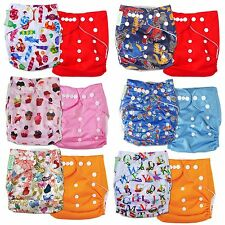 2x Baby Infant Cloth Diaper One Size Reusable TPU Nappy Covers Inserts