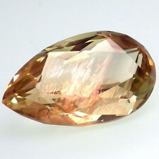 GREEN-GOLD SCHILLER SUNSTONE-OREGON 17.23Ct FLAWLESS-JEWELRY/TOP INVESTMENT GDE