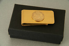 Lucky Sixpence 1921 - 1946 Gold Plated Money Clip - Birthday - Wedding - Gift