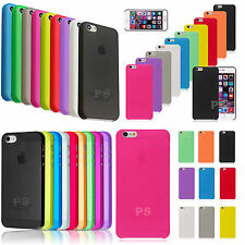 FUNDA CARCASA MUY FINA SEMI-TRANSPARENTE 0.3MM PARA APPLE IPHONE MATE COLORES