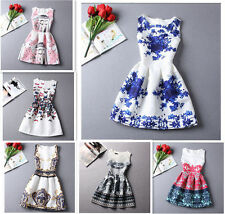 Korean Fashion Summer Womens Dress Vintage Digital Evening Party Print Dresses