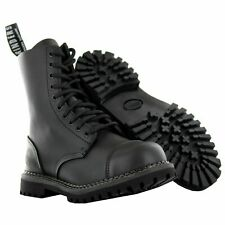 Grinders Stag CS DERBY Matt Finish Black Lace Up Leather Combat Uniform Boots