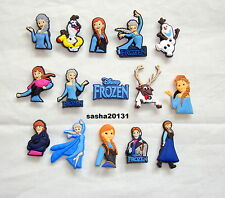 DISNEY FROZEN SHOE CHARMS ,CROC,JIBBITZ CHARMS,BRAND NEW. 15 DIFFERENT CHARMS