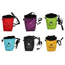 Psychi Chalk Bag for Bouldering Rock Climbing Gym with Rear Zip and Waist Belt