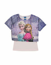 DISNEY FROZEN ELSA ANNA T-SHIRT TOP SET 104 110 116 122 128 134 140 146 152 NEU