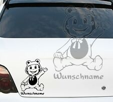 Autoaufkleber Autotattoo Baby on Board Kind an Bord Wunschname 227a