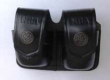 Leather Double Speed Loader Case - (# 038NRA BLACK)