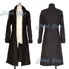 ATTACK ON TITAN cosplay Shingeki no Kyojin Levi Rivaille coat cappotto scouting