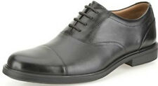 GABSON CAP - MENS CLARKS G FIT LACE UP OXFORD STYLE BLACK LEATHER TOE CAP SHOES