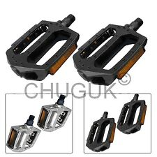 MOUNTAIN ROAD CYCLE BIKE BICYCLE BMX MTB CYCLING ALLOY FLAT PLATFORM PEDAL 9/16""