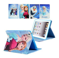 Cartoon Frozen PU Leather Case Stand Cover For iPad 2/3/4 Air Mini 2/3 Tablet
