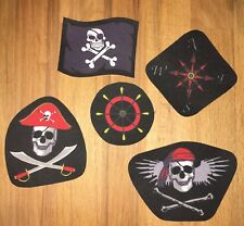 Applikation Aufnäher Pirat Totenkopf Skull Flagge Bügelbild Patch Flicken