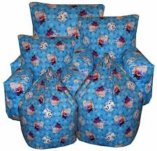 Disney Frozen Kids Blue BeanBag Childrens Bean bag Chairs  Anna, Elsa, Olaf