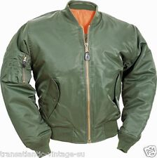 CLASSIC MA-1 FLIGHT JACKET US PILOT BOMBER MENS AIRFORCE S-3XL SAGE GREEN