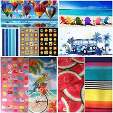 BNWT LARGE 100% COTTON NOVELTY BEACH BATH TOWEL HOLIDAY'S SWIMMING 5 FAB DESIGNS