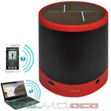 Altoparlante Casse Bluetooth Per ZTE Micro SD MP3 Reader Jack 3.5 Rosso Wireless