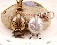 New Lovely Cartoon Character Key Ring pocket Watch quartz boys Kids gift KQ1
