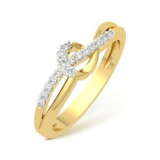 0.10 Cts Corona 18K IGI Certified Diamond  Ring # DIA2936