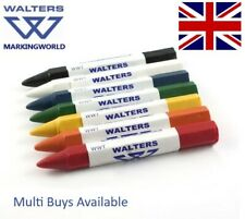 Walters WWT Timber & Metal Crayons for Road Stone Bricks Lumber Concrete, Pack 3