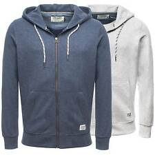 Jack & Jones Sweatjacke jjorWALLY SWEAT ZIP HOOD Jacke Kapuze Print Grau