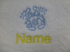 ITS A BOY FEET Embroidered onto Towels, Bath Robes with Personalised name