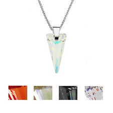 925 Sterling Silver Necklace *Spike* made with Genuine Crystals from Swarovski®