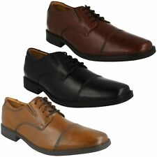 TILDEN CAP MENS CLARKS LEATHER TOE CAP LACE UP SMART FORMAL WORK PARTY SHOES