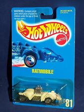 Hot Wheels Early 1990s Blue Card #81 RATMOBILE White w/ UHs